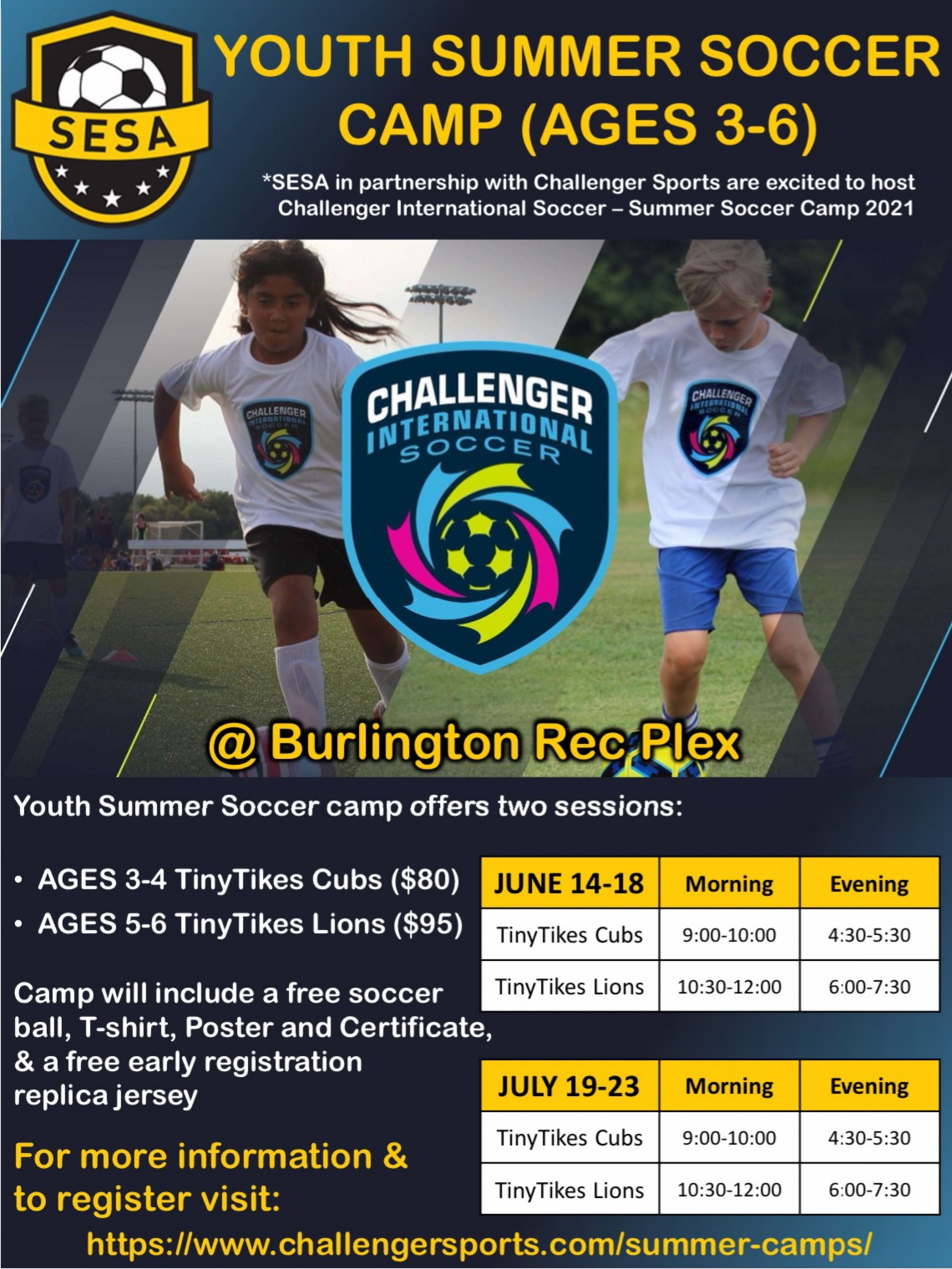 Challenger Sports TinyTykes Summer Camp